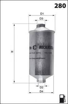 MECAFILTER ELE3577 Топливный фильтр