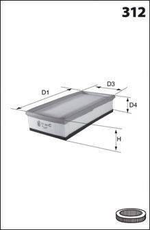 MECAFILTER ELP3840 Воздушный фильтр