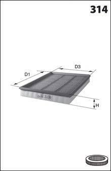 MECAFILTER ELP3639 Воздушный фильтр