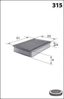 MECAFILTER ELP3961 Воздушный фильтр