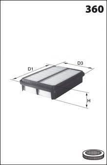 MECAFILTER ELP9070 Воздушный фильтр
