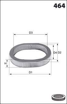 MECAFILTER EL3353 Воздушный фильтр