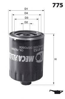 MECAFILTER ELH4126 Масляный фильтр