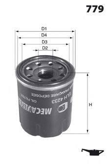 MECAFILTER ELH4233 Масляный фильтр