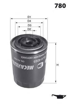 MECAFILTER ELH4223 Масляный фильтр