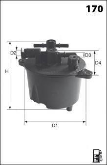 MECAFILTER ELG5365 Топливный фильтр