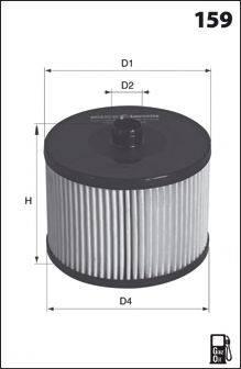 MECAFILTER ELG5293 Топливный фильтр