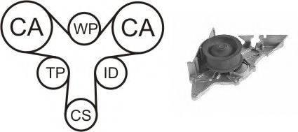 AIRTEX WPK173201 Водяной насос + комплект зубчатого ремня