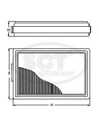 SCT GERMANY ST6005 Топливный фильтр