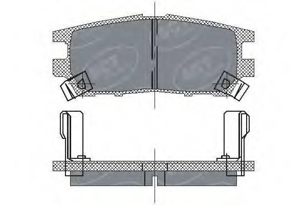 SCT GERMANY SP202PR Комплект тормозных колодок, дисковый тормоз