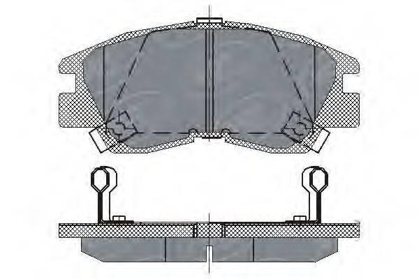 SCT GERMANY SP222PR Комплект тормозных колодок, дисковый тормоз
