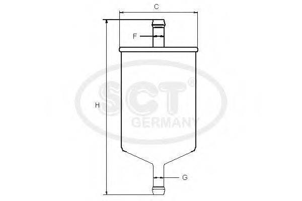 SCT GERMANY ST755 Топливный фильтр