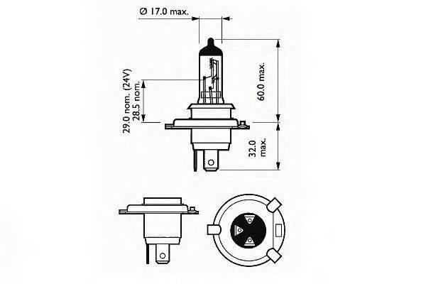 SCT GERMANY 202792 Лампа накаливания, фара дальнего света; Лампа накаливания, основная фара; Лампа накаливания, противотуманная фара; Лампа накаливания, основная фара; Лампа накаливания, фара дальнего света; Лампа накаливания, противотуманная фара