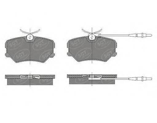 SCT GERMANY SP490PR Комплект тормозных колодок, дисковый тормоз