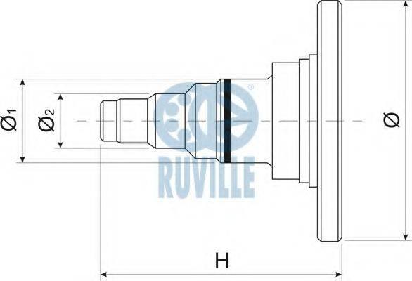 RUVILLE 415701 Поворотный кулак, подвеска колеса