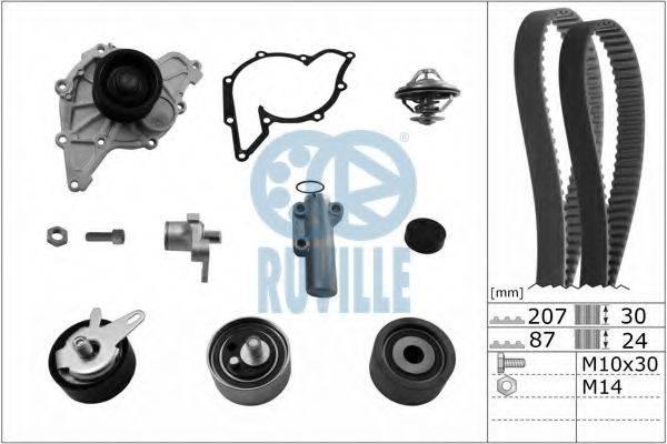 RUVILLE 55703771 Водяной насос + комплект зубчатого ремня