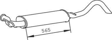 DINEX 73318 Глушитель выхлопных газов конечный