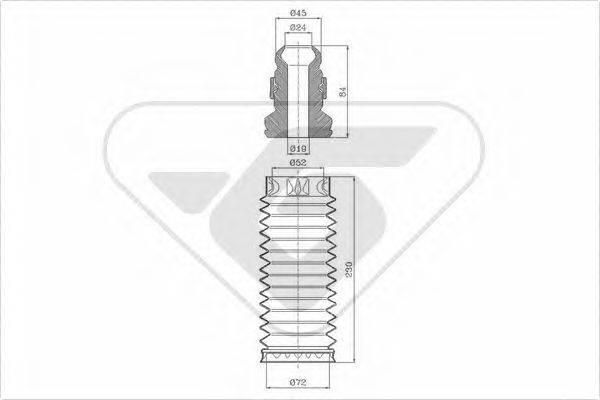 HUTCHINSON KP028 Пылезащитный комплект, амортизатор