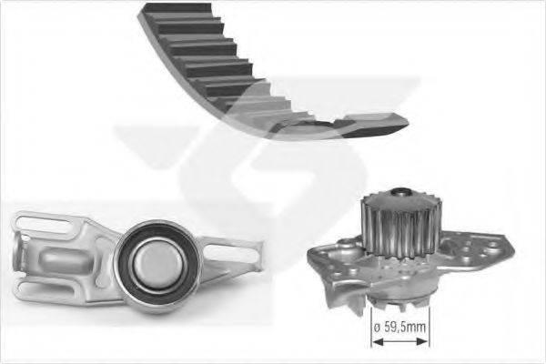 HUTCHINSON KH05WP01 Водяной насос + комплект зубчатого ремня