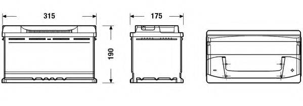 EXIDE EB800 Стартерная аккумуляторная батарея; Стартерная аккумуляторная батарея