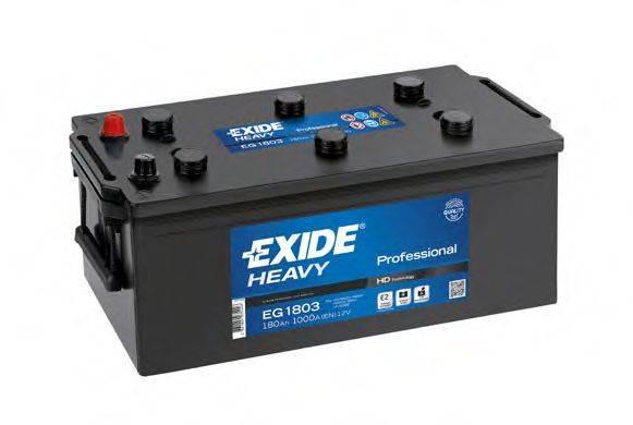 EXIDE EG1803 Стартерная аккумуляторная батарея; Стартерная аккумуляторная батарея