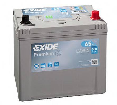 EXIDE EA654 Стартерная аккумуляторная батарея; Стартерная аккумуляторная батарея