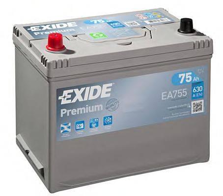 Стартерная аккумуляторная батарея; Стартерная аккумуляторная батарея EXIDE EA755