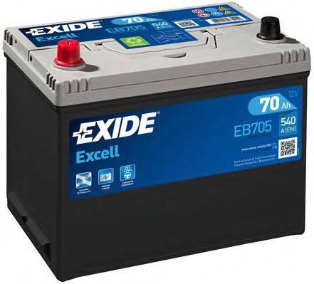 Стартерная аккумуляторная батарея; Стартерная аккумуляторная батарея EXIDE EB705