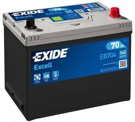 EXIDE EB704 Стартерная аккумуляторная батарея; Стартерная аккумуляторная батарея