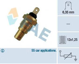 FAE 31580 Датчик, температура охлаждающей жидкости