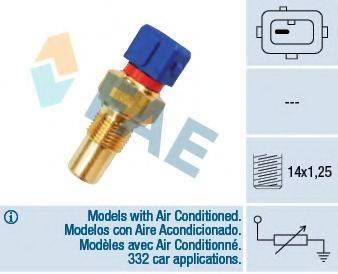 FAE 32290 Датчик, температура охлаждающей жидкости; Датчик, температура головки цилиндров