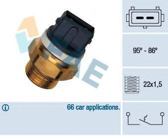 FAE 37570 Термовыключатель, вентилятор радиатора