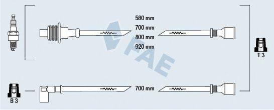 FAE 83380 Комплект проводов зажигания