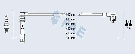 FAE 85062 Комплект проводов зажигания