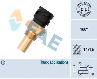 FAE 34375 Датчик, температура охлаждающей жидкости