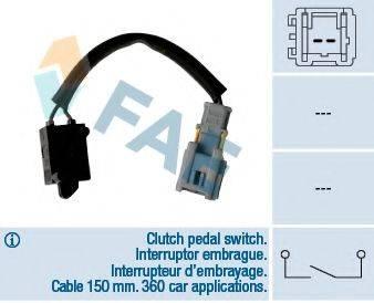 FAE 24907 Выключатель, привод сцепления (Tempomat); Выключатель, привод сцепления (управление двигателем)