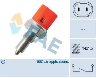 FAE 40601 Выключатель, фара заднего хода