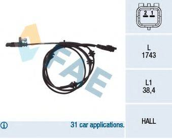 FAE 78032 Датчик, частота вращения колеса