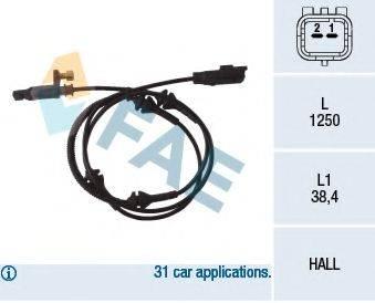 FAE 78089 Датчик, частота вращения колеса