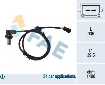FAE 78071 Датчик, частота вращения колеса