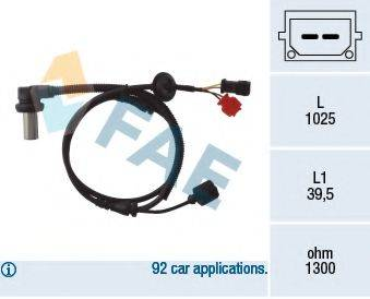 FAE 78063 Датчик, частота вращения колеса