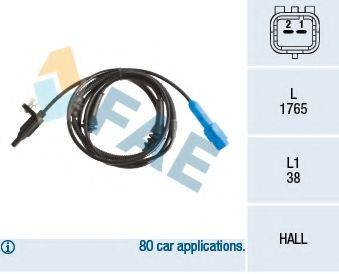 FAE 78236 Датчик, частота вращения колеса
