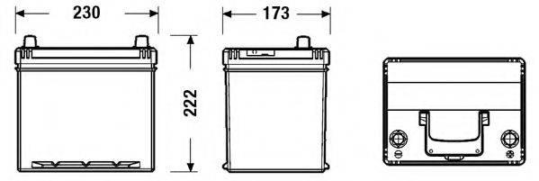 FULMEN FB604 Стартерная аккумуляторная батарея; Стартерная аккумуляторная батарея