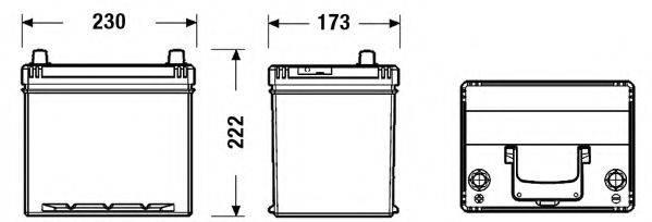 FULMEN FB605 Стартерная аккумуляторная батарея; Стартерная аккумуляторная батарея