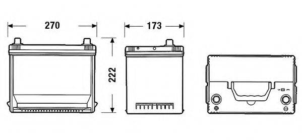 FULMEN FA755 Стартерная аккумуляторная батарея; Стартерная аккумуляторная батарея