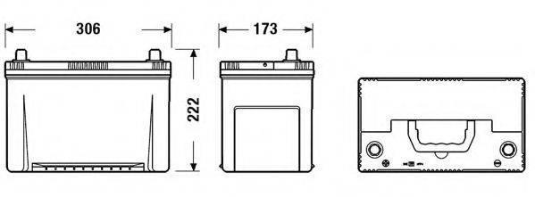 FULMEN FA955 Стартерная аккумуляторная батарея; Стартерная аккумуляторная батарея