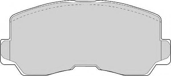 NECTO FD6704A Комплект тормозных колодок, дисковый тормоз