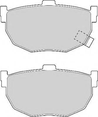 NECTO FD6564A Комплект тормозных колодок, дисковый тормоз