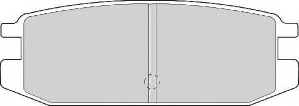 NECTO FD6744A Комплект тормозных колодок, дисковый тормоз