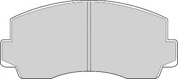 NECTO FD881A Комплект тормозных колодок, дисковый тормоз